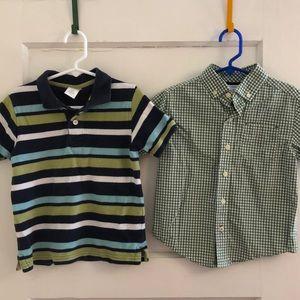 Bundle of little boys Gymboree shirts